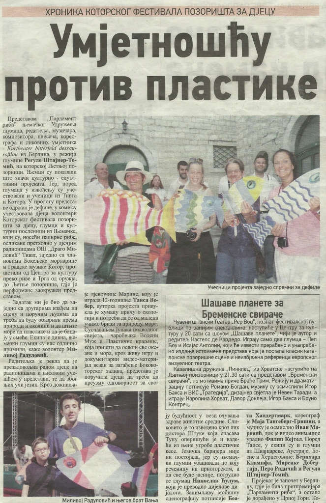 "Tageszeitung ""Dan"" (Montenegro), 4. Juli 2016"